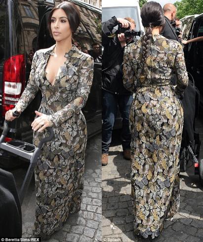 Kim in Valentino