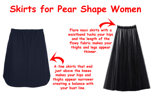 SkirtsPearShapeWomen