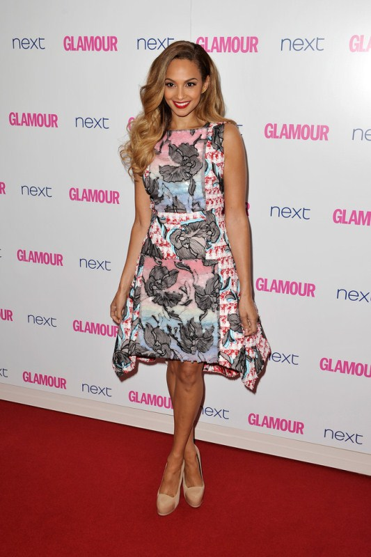 Alesha Dixon in a Floral Peter Pilotto Dress at The Galmour Women Awards