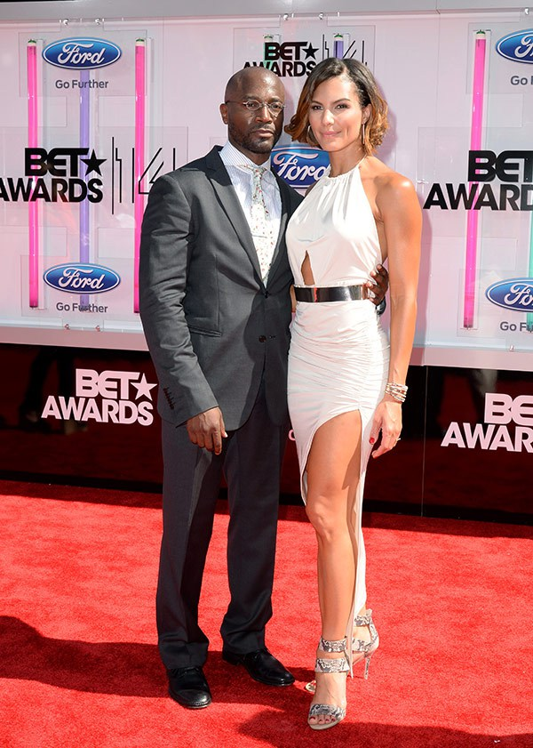 Amanza Smith-brown and Taye diggs