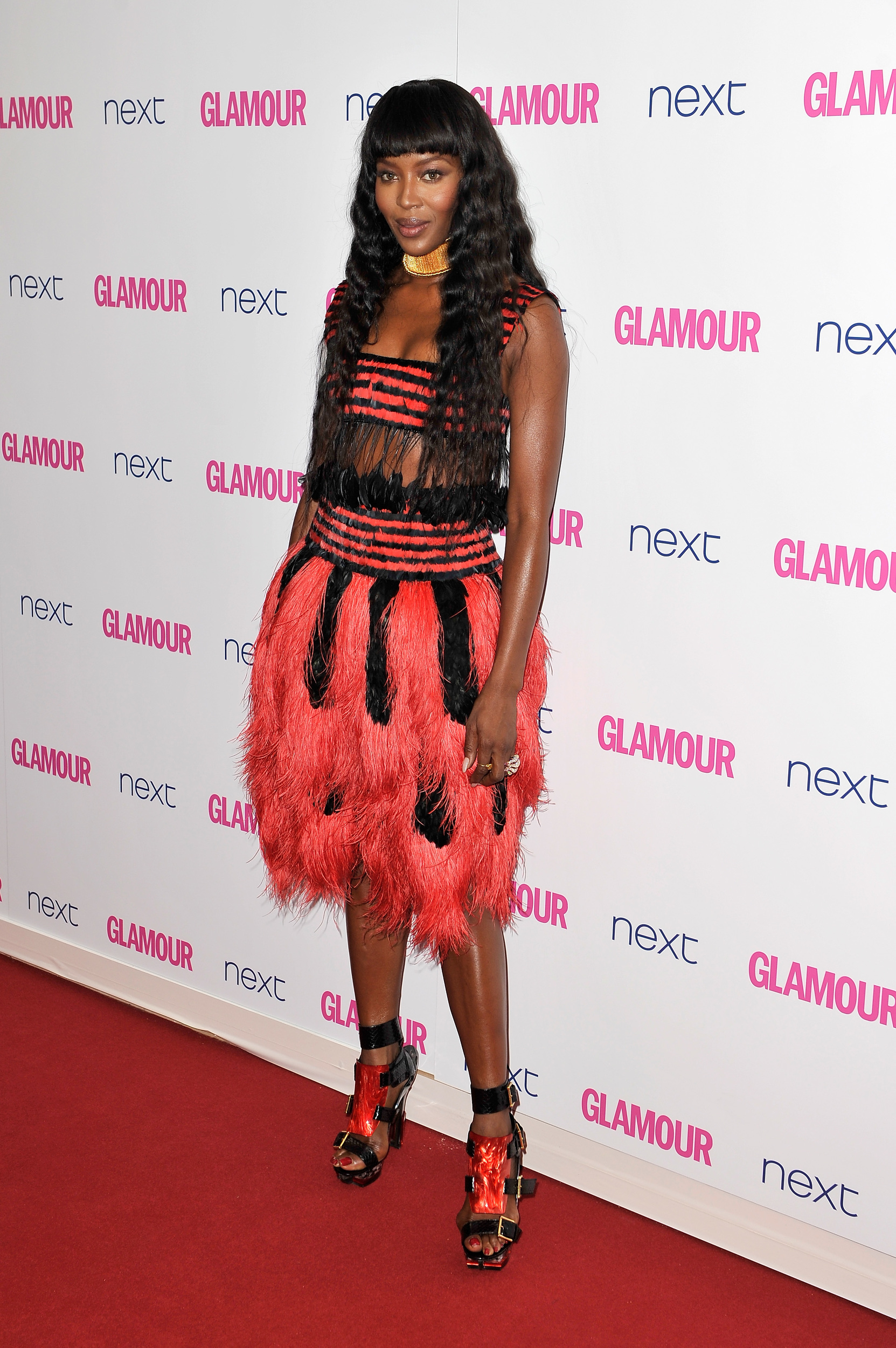 Naomi Campbell in Alexander McQueen Spring 2014 Glamour's Women of the Year Awards. June 2