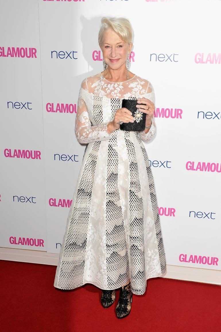 Dame Helen Mirren attended the Glamour Women of the Year Awards held at Berkeley Square Gardens on Tuesday (June 3) in London, She is wearing Huishan Zhang Fall 2014