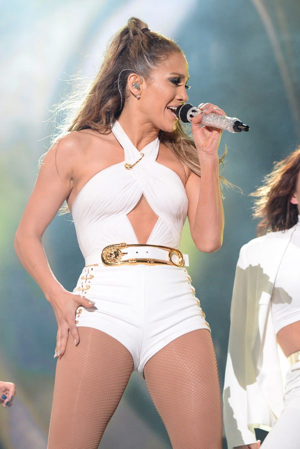 Jennifer Lopez performs onstage during her first ever hometown concert to launch State Farm Neighborhood Sessions on June 4, 2014 in Bronx, New York. (Photo by Kevin Mazur/WireImage)