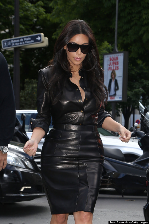 Kim heading to lunch at L'Avenue in Paris