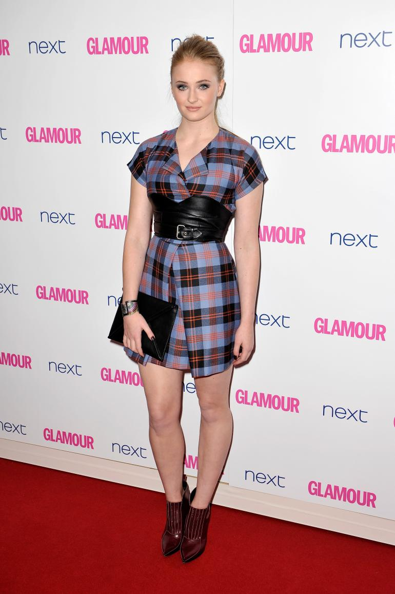 Sophie Turner in McQ by Alexander McQueen at the 2014 Glamour Women of the Year Awards